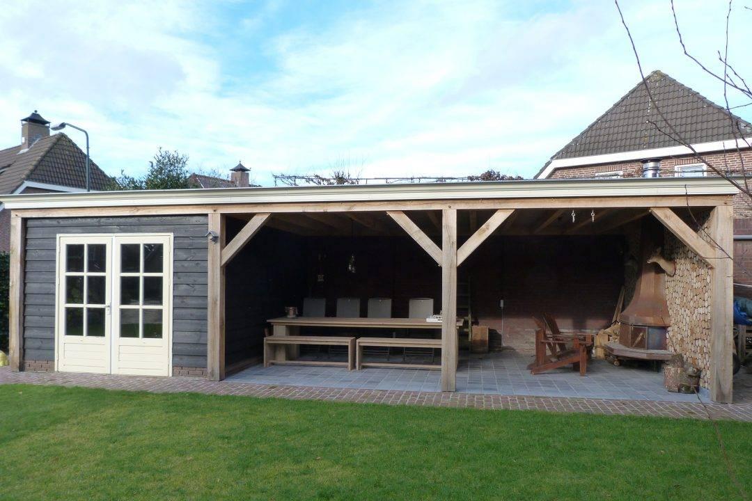 Overkapping fam rijkers verouden bouwbedrijf - Veranda met dakpan ...